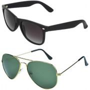 Zyaden Combo of Wayfarer Sunglasses Aviator Sunglasses (Combo-3)