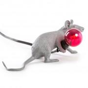 Seletti - Mouse Lampada Grey Edition Lop