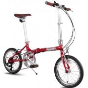 Bicicleta pliabila Pegas Teoretic 7s Red