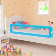 vidaXL Ограничител за бебешко легло, син, 180x42 см, полиестер