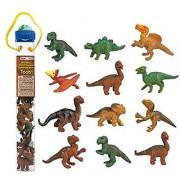 Safari Ltd Dino Babies TOOB with 10 Dinosaurs Including Baby Pertadon Allosaurus Apatosaurus Triceratops Brachiosaur
