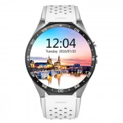 KW88 Android 5.1 OS 3G del telefono inteligente reloj w / 512 MB de RAM ? 4 GB de ROM - blanco