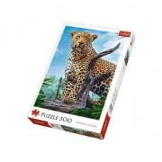 Puzzle Trefl, Leopard in Savana, 500 piese