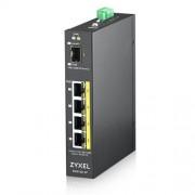 Zyxel 4xGb+1xSFP POE IP30 DIN 120W RGS100-5P