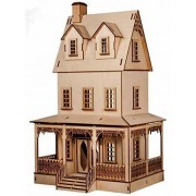 Melody Jane Dolls Houses House Miniature 1:12 Lazer Cut Abriana Country Cottage Flat Pack Kit