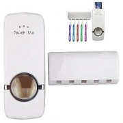 YY Automatic Toothpaste Dispenser Kit with Toothbrush Holder