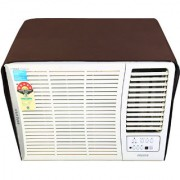 Glassiano Coffee Colored waterproof and dustproof window ac cover for Carrier 24K Estrella Plus AC 2 Ton 3 Star Rating