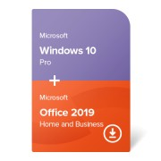 Windows 10 Pro + Office 2019 Home and Business elektronikus tanúsítvány