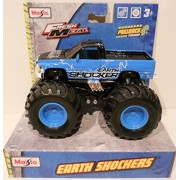 May Cheong Group Earth Shockers Monster Truck (Light Blue And Black) Pullback Retrofriction
