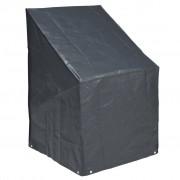 Nature Husă scaune stivuite, PE, gri închis, 110 x 68 x 68 cm, 6030606