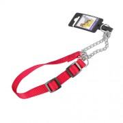 Hundhalsband stryp, justerbart av nylon, rött, 20mm x 35-55cm