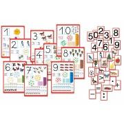 Set complet de semne numerice 10buc si cartonase magnetice 200buc