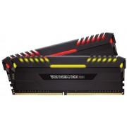 Memorie Corsair Vengeance RGB Series, DDR4, 2x8GB, 2666MHz (Negru)