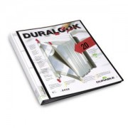 DURABLE · Hunke und Jochheim GmbH & Co. KG DURABLE Duralook® Plus Präsentationsmappe, DIN A4, Sichtbuch mit dokumentenechten, eingeschweißten Klarsichthüllen, Rückenbreite: 17 mm, 20 Sichthüllen