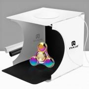 PULUZ 20cm include 2 LED Panels Folding Portable 1100LM Light Photo Lighting Studio Shooting Tent Box Kit with 2 Colors Backdrops (Black White) Unfold Size: 24cm x 23cm x 22cm
