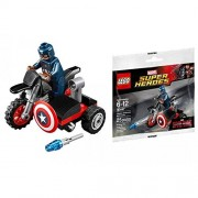 LEGO Marvel Captain America Civil War Captain America's Motorcycle Mini Set #30447 [Bagged]