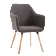 Timwood Experience Silla de Comedor PICARD V2 en Tela, marrón CLP marrón, altura del asiento