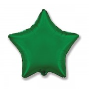 """Csillag alakú fenyő zöld fólia lufi, 19""""/48cm"""
