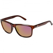 David Blake Purple Polarized UV Protected Mirrored Wayfarer Sunglass