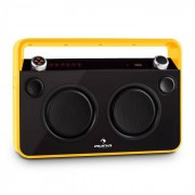 Auna Bebop Ghettoblaster USB Bluetooth AUX MIC Akku gelb