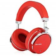 Bluedio T4S auriculares HiFi activo Cancelación de ruido sobre la oreja giratoria auriculares inalámbricos Bluetooth 4,2 Bajo Extra carga rápida(Rojo)