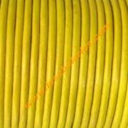 Cuero redondo 2mm color amarillo ( precio por 50 cm)