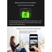 Caméra de sécurité VESAFE Home VS-M3 HD 720P Intercom de sonnette vidéo Smart WiFi, carte de soutien TF et vision nocturne et application de détection PIR pour IOS et Android (gris)
