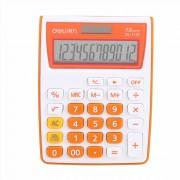 Calculator de birou 12 digiti Deli 1122 portocaliu