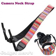 Gadget Hero's Retro Color Patterns Neck Shoulder Soft Strap For SLR DSLR Camera