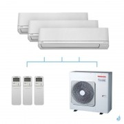 TOSHIBA climatisation tri split mural R32 Shorai 8kW RAS-M07PKVSG-E + RAS-M07PKVSG-E + RAS-M07PKVSG-E + RAS-4M27U2AVG-E A++