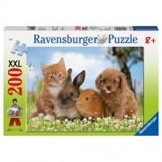Puzzle Prietenii familiei, 200 piese, RAVENSBURGER Puzzle Copii
