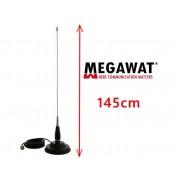 Set Antena Radio CB Megawat ML145 cu Magnet Megawat 145PL