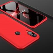 GKK Para Huawei P20 Lite PC 360 Grados La Plena Cobertura Protectora Caso Cubierta Trasera (rojo)