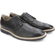 Clarks Gambeson Limit Black Leather lace up For Men(Black)