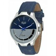 Mark Regal Denim Leather Strap Men's Wrist Watch 6 MONTH WARRANTY