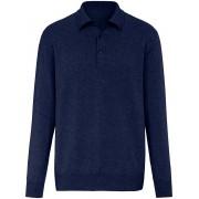 Peter Hahn Polo-Pullover aus 100% Premium-Kaschmir Peter Hahn Cashmere blau