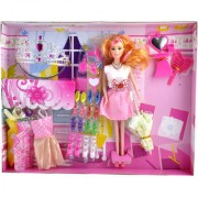 KidzFan Fashion Doll Party Dessert With Princess Dress Clothes And Other accessories