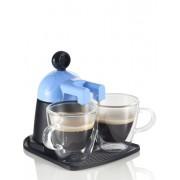 **Brandani Melita Express plavi aparat za kavu s 2 staklene šalice