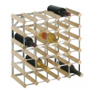 Wijnrek blank - hout - voor 30 flessen