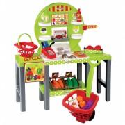 Supermarket de legume Ecoiffier cu carucior si 34 accesorii