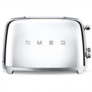Smeg 50's Style Retro 2 Slice Toaster - Mirrored Chrome