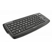 Trust Tastiera Wireless con Mouse Trackball per PC Smart TV Laptop PlayStation Xbox Nero