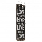 vidaXL Nástenný vešiak na kabáty so 6 háčikmi 120x40 cm LOVE LIVE