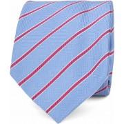 Suitable Krawatte Blau Seide Streifen K91-3 - Blau