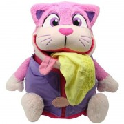 Mascota 2 in 1 Tummy Stuffers Pisica Roz Jay At Play