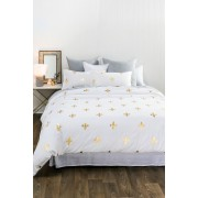 Ruby Duvet Cover Set - White/Gold