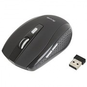 iKross 2.4G Portable Compact Wireless Optical Mouse Mice for Laptop Computer PCs 2 DPI Levels (800/1600) - Black