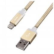EnerGea Alu Blaze LED Lightning USB-kabel 1.2m Luxe Goud