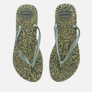 Havaianas Women's Slim Animals Flip Flops - Olive/Green Metallic - EU 37-38/UK 5 - Green