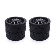 Cecileie 4PCS 1/8 RC Car Rubber Tyres Plastic Wheels for Redcat Team Losi VRX HPI Kyosho HSP Carson Hobao 1/8 Buggy/On-Road Car